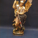 3P - S. Michele Arcangelo - scultura legno dipinta a mano varie dimensioni
