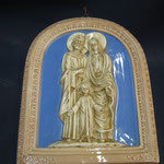 "15q - Quadro in porcellana ""De Ruta"" Sacra Famiglia"