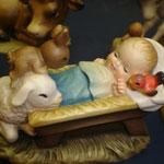 """7S - Gesù Bambino - """"ANRI FERRANDIZI"""" scultura in legno dipinta a mano"""