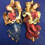 11A - Angeli portacandela - scultura in legno dipinta a mano