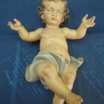 6 R - Bambinello scultura in legno dipinta a mano