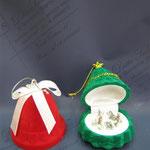 9U - Piccoli presepi in custodia varie forme: campane, abeti, conchiglie
