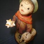 """9P - Pioggia di stelle - """"ANRI FERRANDIZI"""" scultura in legno dipinta a mano"""
