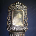 8B - Acquasantiera in argento traforata a mano - Madonna del Lippi