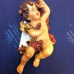 9A - Angelo volante - scultura in legno dipinta a mano