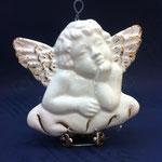 54 - Angelo del Raffaello in ceramica e oro da appendere