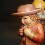 """10P - Il viaggio - """"ANRI FERRANDIZI"""" scultura in legno dipinta a mano"""
