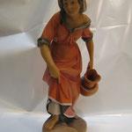 """43T Donna con brocca """"LEPI"""" in legno scolpita e dipintia a mano"""
