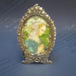 10q - Miniatura da poggiare dipinta a mano su avorio in argento