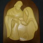 8D - Quadro da capoletto in legno scolpito a mano