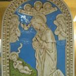 """22q - Quadro in porcellana """" De Ruta """" Madonna con Bambino"""