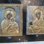 7G - Icona in argento placcato oro dipinta a mano