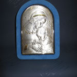 5q - Quadro da poggiare in argento e velluto
