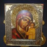 2G - icona russa in argento russo dipinta a mano