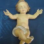 7 R - Bambinello scultura in legno dipinta a mano