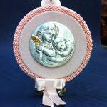 45 - Sopraculla Angeli in argento bicolore