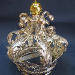 1  C - Corona stile barocco in argento e lapislazzuli