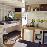 Hausbooturlaub in Brandenburg | Hausboot mieten in Brandenburg | Wohnraum im Hausboot