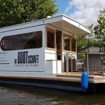 Hausbooturlaub in Brandenburg | Hausboot mieten in Brandenburg | Außenansicht Hausboot