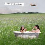 """La Gueudaine, Affiche """"Dans le même bain"""""""