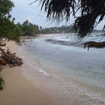 Mirissa's beach