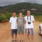 Chingte, moi et Huang Chun