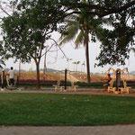 Exercice dans le parc