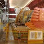 Bouddha couché avec moi devant