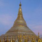 Paya Shwedagon au couché de soleil