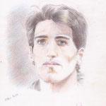 Yoni ( auto-portrait crayons de couleurs )