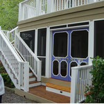 White PVC Lattice on Deck and Porch addition