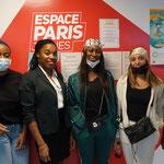 24/02/2021: Forum d'inclusion sociale FR - Ophélie Sextius avec plusieurs jeunes filles