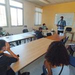 """27/07/2021: Intervention au centre AFPA de Béziers auprès des jeunes de la Promo 16-18 locale, module FR """"Théories du comportement""""."""