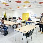 14/09/2021: À Béziers. Centre AFPA. Intervention d'Abel Boyi auprès des jeunes de la Promo 16-18.
