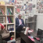 """18/02/2021: Connexion entre les structures """"Lol'idays"""" et notre plateforme. Petite session de travail avec le responsable , monsieur Lufialuisu Ndeko."""