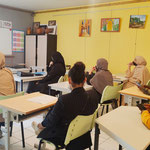 30/06/2021: À Creil. Réunion d'information collective dans les locaux de Femmes sans Frontière, présentation des dispositifs de l'Afpa et de la Promo 16-18.
