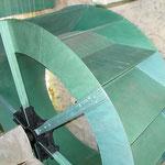 Metallrad Hammerschmiede neu gestrichen (2004)