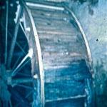 Wasserrad der Mühle ca 1985
