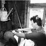 Schleifstein mit Bewässerungsvorrichtung ((2.5.87)
