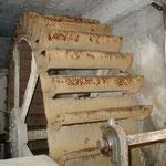 Metallrad bei der Schafwollverarbeitung