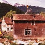 Transport-Vorbereitungen am ursprünglichen Standort (Frühling 1978)