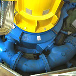 Teil der Pelton-Turbine