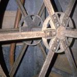 Metallenes Wasserrad der Maismühle