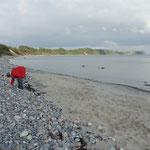 Bei der Suche nach schönen Steinen