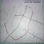 Lageplan des ehemaligen Ringwalles.
