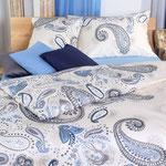 Paislay blau, erhältlich bis Grösse 240x240cm