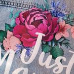 detail geprinte bloemen