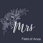 mrs met outline bloemen