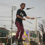 4月 かわさき楽大師まつり 大道芸パフォーマー「しゅうちょう」