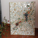 "Mosaik-Bild ""Talking about Love"", 59 x 89 cm, Alu-Rahmen, 610 €"